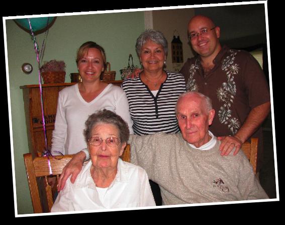 Grandma, Pop-Pop, Mom, Becky, and Brad